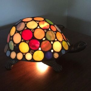 Retro Stained Glass Turtle Light